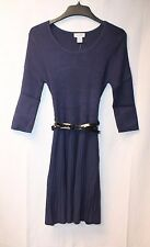 NEW WOMENS JUNIORS PLUS SIZE 2X  NAVY BLUE BELTED SWEATERDRESS SWEATER DRESS
