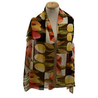 UNBRANDED FLORAL MULTICOLOR SHAWL  Silk Scarf 60/19 In #A43