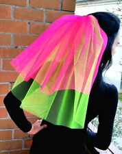 Bachelorette party Veil Bright neon green, hot pink  Hen party European seller