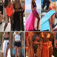 SEXY Womens Summer Beach High Split Swimwear Bikini HOT Cover Up Long Maxi Skirt
