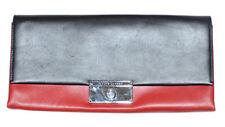 Ralph Lauren Women's Italian Leather Clutch Bag - One size - Black/Red