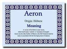 Aeron Personalised Name Meaning Jumbo Magnet