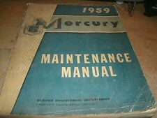 1959 Mercury Monterey Montclair Shop Service Manual Oem