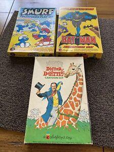 LOT (3) Colorforms Batman Adventure Set Smurfs Doctor Doolittle - U Get All 3