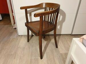 Holzstuhl Gropius Bauhaus Design Armlehnstuhl Vintage Schreibtischstuhl 4