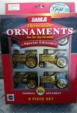 Farmall ih 806 gold Tractor ornament set of 6 new Free ship party tree htf! Nice