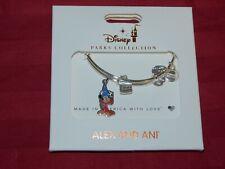 Disney Parks Sorcerer Mickey Mouse Alex & Ani Silver Charm Bracelet Bangle New