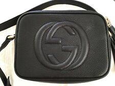 Gucci Soho Disco Bag Crossbody Leather Black New Authentic EUC