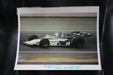 Roger McCluskey Autograph Racing Photo Signed 1970s USAC Indy Car #14 Vintage