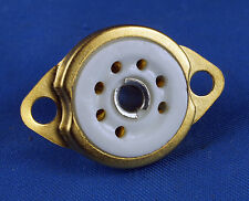 TUBE SOCKET 7 Pin Preimun Ceramic - Chassis Mount - Gold plated - NEW