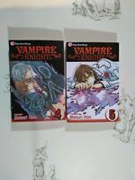 Lot of 2 - Vampire Knight Manga Vol. 4 & 5 Shojo Beat Manga - Matsuri Hino