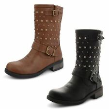 Dolcis Block Synthetic Leather Pull On Boots for Women