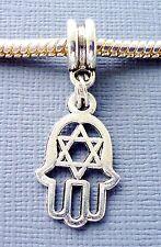 HAMSA Palm Symbol Hexagram Charm Bead Pendant for European charm Bracelet C138