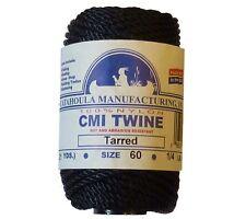 Catahoula No 60 Tarred Twisted Bank Line 4 oz Spool 63 ft Nylon Twine