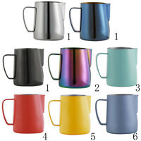 Stainless Steel Milk Frother Pitcher Jug for Latte Coffe Frothing Barista