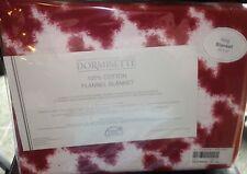 Dormisette German Luxury Cotton Flannel King Blanket New