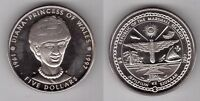MARSHALL ISLANDS – 5$ UNC COIN 1997 YEAR PRINCESS DIANA
