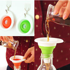 Mini AD Silicone Gel Practical Foldable IC Funnel Cute Collapsible Kitchen Tool