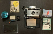 VINTAGE POLAROID LAND CAMERA  AUTOMATIC 100 W/FLASH AND OWNER'S MANUAL / EXTRAS