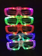 8 PCS LED Shutter Glasses Light Up Shades Flashing Rave Wedding Party Supplies