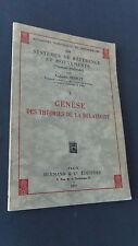 Sciences Physique Genèse des théories de relativité par Augustin SESMAT