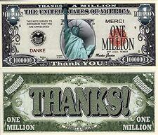 Thanks a Million-  Million Dollar Novelty Money