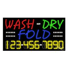 Wash Dry Fold High Impact Eye Catching Led Sign