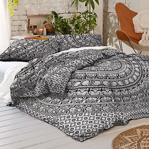 Indian Full Queen Size Bed Cover Mandala Bed Sheet Hippie Bohemian Bedding set