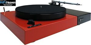 Perpetuum Ebner PE1010 Red Turntable/THORENS arm/Dustcover MADE-IN-GERMANY