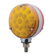 42 LED Reflector Double Face Turn Signal - Amber/Red   Semi Truck Fender