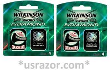 8 Wilkinson FX Diamond blades fit Schick Tracer Razor Cartridges Refills Shaver