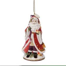 New In Box Fitz & Floyd Regal Holiday 2014 Dated Bell Santa Ornament 49-276