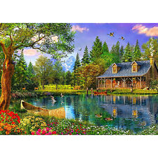 DIY 5D Diamond Mosaic Landscapes Scenery Lake Full Diamond Painting Cross Decors