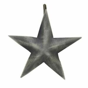 Rustic Distressed Barn Star Shower Curtain Hook 12/set -Country Farmhouse Decor
