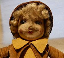 DELIGHTFUL ART DECO Antique Papier mache face bedside boudoir doll ALL ORIGINAL