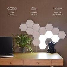 LED Quantum Hexagonal Wall Lamp Modular Touch Sensor Night Light Home Decor