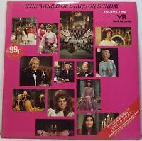 "THE WORLD OF STARS ON SUNDAY VOLUME 2 Vinyl Album LP 33rpm 12"" Excellent"