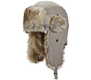 Woolrich Faux Fur Trapper Hat Bomber Aviator Winter Cap Mens Size S/M - L/XL