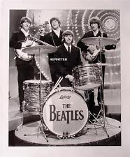 VINTAGE BEATLES 11X14 POSTER LENNON McCARTNEY LUDWIG DRUMS PHOTO MUSIC ART PRINT