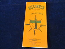 Vintage 1973 Official Roscommon County Michigan Road Map