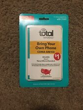 Total Wireless Bring Your Own Phone CDMA SIM kit fits all Verizon phones —361