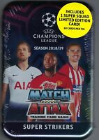 2018-19 Topps UEFA Champions League Soccer Match Attax 60ct SUPER STRIKERS TIN