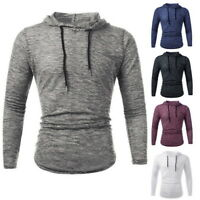 Autum Men Shirt Hip-Hop Long Sleeve Hooded Sweatshirt Sweat Coat Casual Pullover