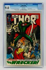 Thor #148 CGC 9.0 White Pages First Wrecker Appearance Origin 1st App VF/NM 1968