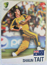 ASHES 2010/11 CRICKET CARD -  SHAUN TAIT  #19 of 32