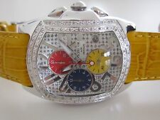 TECHNO COM by KC Gentlemens Chronograph with 0.50ctw Diamonds