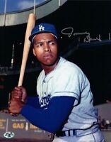 Tommy Davis Signed 8X10 Photo Autograph LA Dodgers Bat Silver High Auto COA