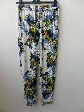French Connection Patterned Summer Loose Elasticated Trousers XS UK 8