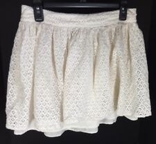 Girls Clothing Kid Skirt Size Large dELiA*s Cream Color Lace Type Pattern Design
