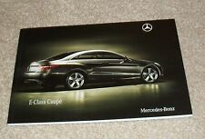 Mercedes E Class Coupé brochure 2009-E250 E350 CDI & CGI E500 Sport & Se